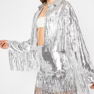 Fringe Sequin Jacket